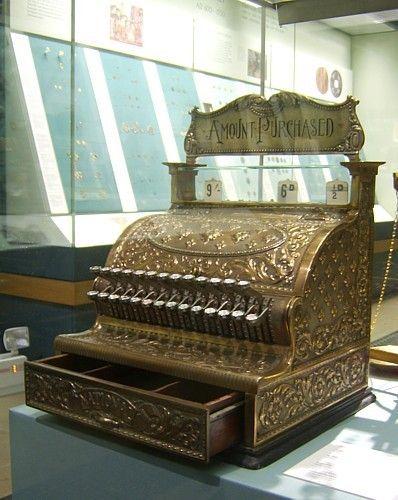 Extrêmement ANCIENNE CAISSE ENREGISTREUSE - caisse enregistreuse ancienne OI91